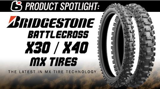 Motocross riepas - Bridgestone X30 un X40